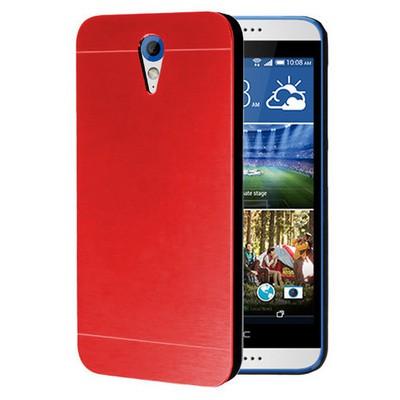 Microsonic Htc Desire 620 Kılıf Hybrid Metal Kırmızı Cep Telefonu Kılıfı