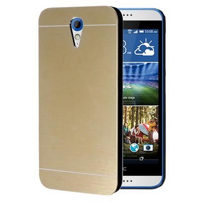 Microsonic Htc Desire 620 Kılıf Hybrid Metal Gold Cep Telefonu Kılıfı