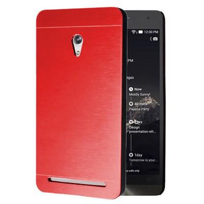 Microsonic Asus Zenfone 6 Kılıf Hybrid Metal Kırmızı Cep Telefonu Kılıfı