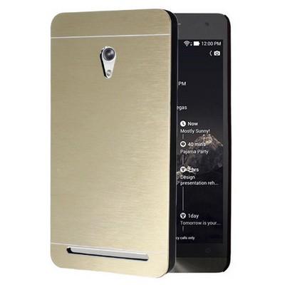 Microsonic Asus Zenfone 6 Kılıf Hybrid Metal Gold Cep Telefonu Kılıfı