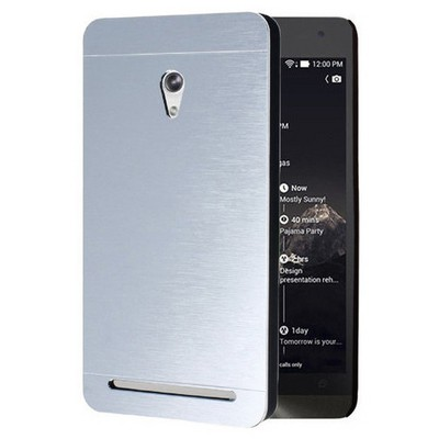 Microsonic Asus Zenfone 6 Kılıf Hybrid Metal Gümüş Cep Telefonu Kılıfı