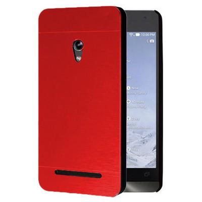 Microsonic Asus Zenfone 5 Kılıf Hybrid Metal Kırmızı Cep Telefonu Kılıfı