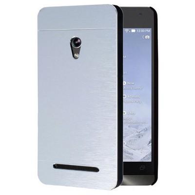 Microsonic Asus Zenfone 5 Kılıf Hybrid Metal Gümüş Cep Telefonu Kılıfı