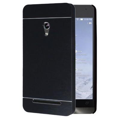 Microsonic Asus Zenfone 5 Kılıf Hybrid Metal Siyah Cep Telefonu Kılıfı