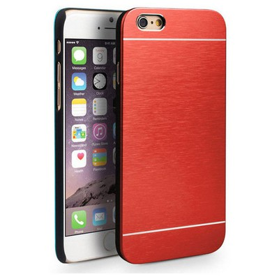 Microsonic Iphone 6 Plus Kılıf Hybrid Metal Kırmızı Cep Telefonu Kılıfı