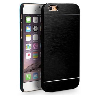 Microsonic Iphone 6 Plus Kılıf Hybrid Metal Siyah Cep Telefonu Kılıfı