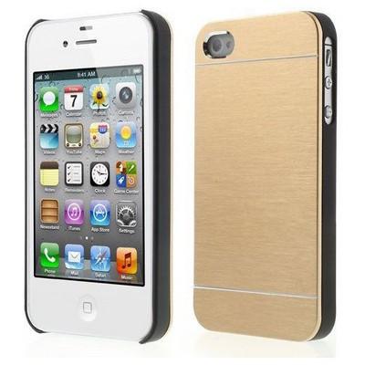 Microsonic Iphone 4s Kılıf Hybrid Metal Gold Cep Telefonu Kılıfı