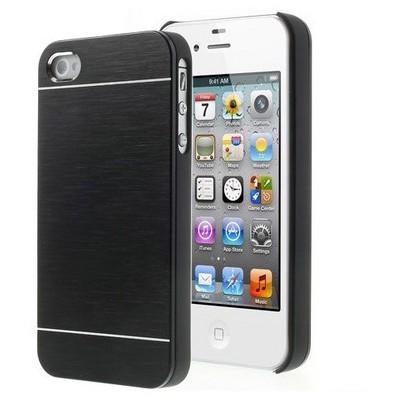 Microsonic Iphone 4s Kılıf Hybrid Metal Siyah Cep Telefonu Kılıfı