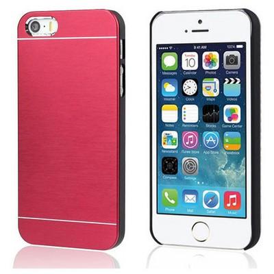 Microsonic Iphone 5s Kılıf Hybrid Metal Kırmızı Cep Telefonu Kılıfı