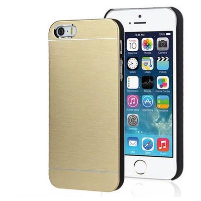 Microsonic Iphone 5s Kılıf Hybrid Metal Gold Cep Telefonu Kılıfı