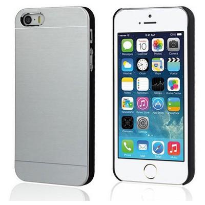 Microsonic Iphone 5s Kılıf Hybrid Metal Gümüş Cep Telefonu Kılıfı