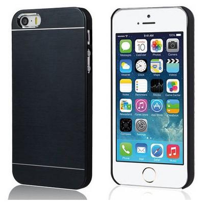 Microsonic Iphone 5s Kılıf Hybrid Metal Siyah Cep Telefonu Kılıfı