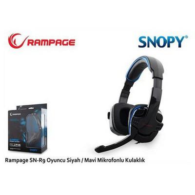 Rampage Sn-r9m Rampage Sn-r9 Oyuncu Siyah/mavi Mikrofonlu Kulaklık Kafa Bantlı Kulaklık