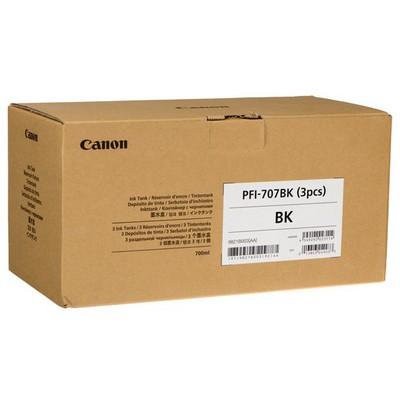 Canon PFI-707BK Siyah 3'lü Mürekkep Kartuş