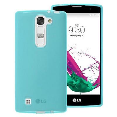 Microsonic Lg G4c Kılıf Transparent Soft Mavi Cep Telefonu Kılıfı