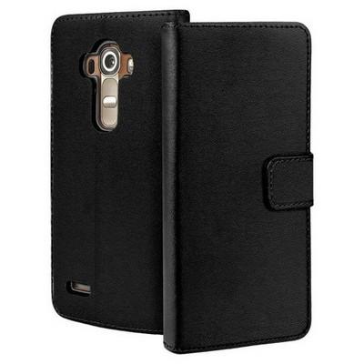 Microsonic Lg G4 Kılıf Cüzdanlı Deri Siyah Cep Telefonu Kılıfı