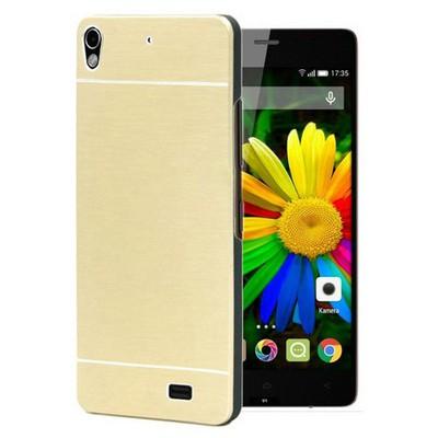 Microsonic General Mobile Discovery Air Kılıf Hybrid Metal Gold Cep Telefonu Kılıfı
