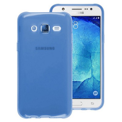 Microsonic Samsung Galaxy J7 Kılıf Transparent Soft Mavi Cep Telefonu Kılıfı