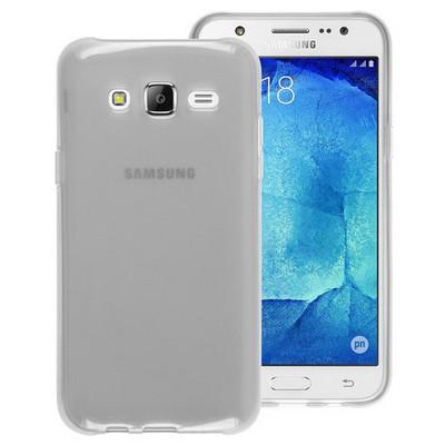 Microsonic Samsung Galaxy J7 Kılıf Transparent Soft Beyaz Cep Telefonu Kılıfı