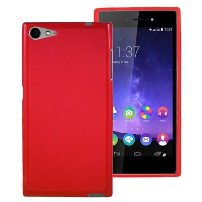 Microsonic Casper Via V9 Kılıf parlak Soft Kırmızı Cep Telefonu Kılıfı