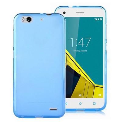 Microsonic Vodafone Smart 6 Kılıf Transparent Soft Mavi Cep Telefonu Kılıfı