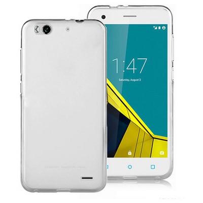 Microsonic Vodafone Smart 6 Kılıf Transparent Soft Beyaz Cep Telefonu Kılıfı