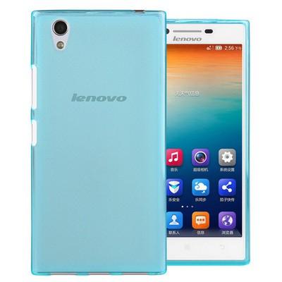 Microsonic Lenovo P70 Kılıf Transparent Soft Mavi Cep Telefonu Kılıfı