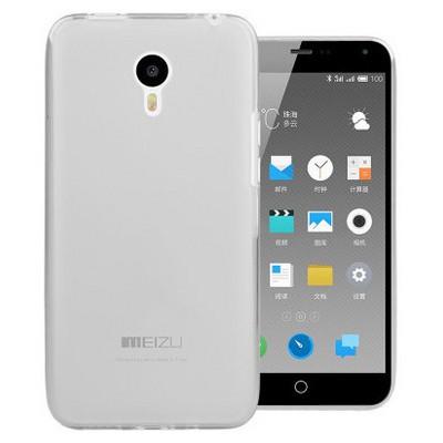 Microsonic Meizu M1 Note Kılıf Transparent Soft Beyaz Cep Telefonu Kılıfı