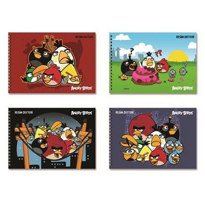 Keskin Color Angry Birds 25x35 15 Yp Spiralli Resim i Defter