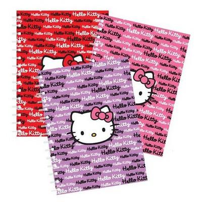 Hello Kitty Çizgili Okul i A4 150 Yaprak Defter