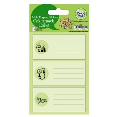 Crea Tiket Creatiket 1055 Çok Amaçlı Etiket Sticker