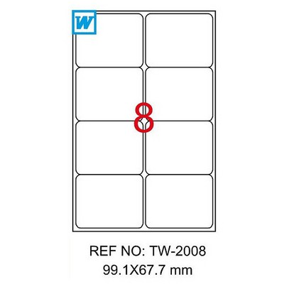 Tanex Yazıcı i 99x67 mm 800 Adet Model TW-2008 Etiket
