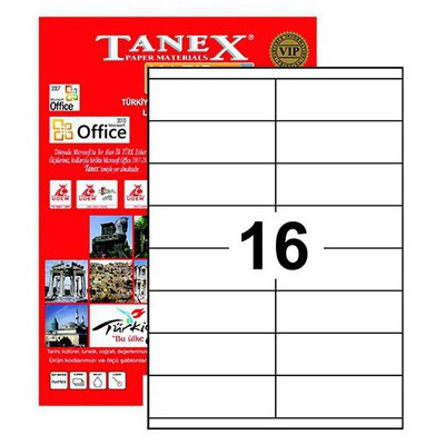 Tanex Tw-2216 105x35mm Etiket
