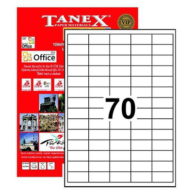 Tanex Tw-2270 40 X 20 Mm Etiket