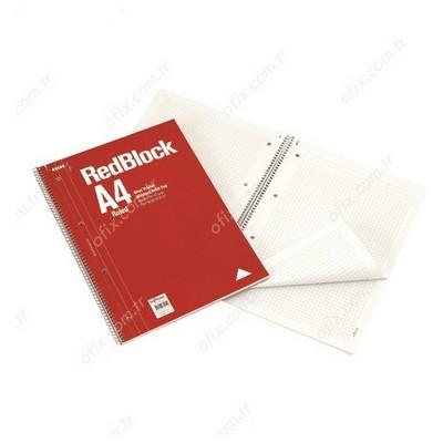Le Color Redblock  A4 70 Yaprak Çizgili Defter