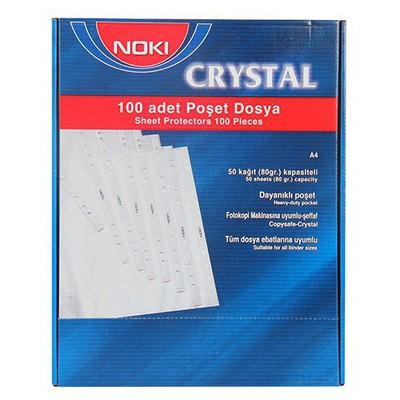 Noki Poşet  Crystal Mavi 100'lü Paket Dosya