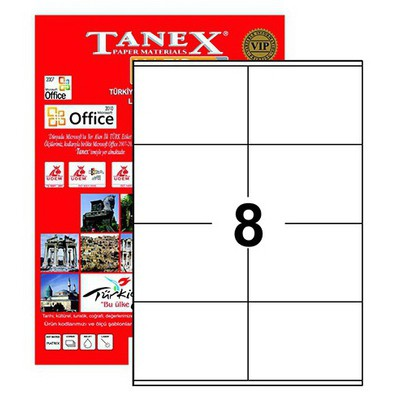 Tanex Yazıcı i 105x72 Mm 800 Adet Model Tw-2408 Etiket