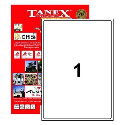 Tanex Yazıcı i 199.6x289.1 Mm 100 Adet Model Tw-2001 Etiket