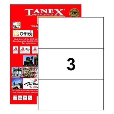 Tanex Yazıcı i 210x99 Mm 300 Adet Model Tw-2003 Etiket