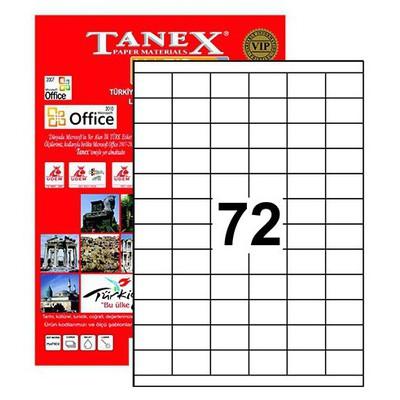Tanex 35x23 Mm Laser Etiket Tw-2172