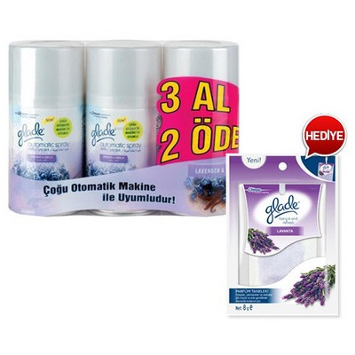 Glade Oda Kokusu Sprey Otomatik Lavender 269 Ml 3 Al 2 Öde Koku & Aparat