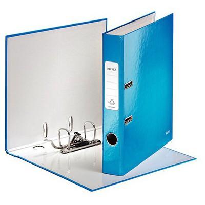 Leitz Karton Klasör Dar Wow (1006) Metalik Beyaz Dosya