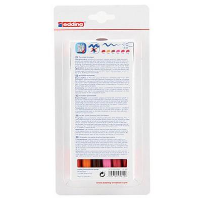 Edding Ed4200k6999 Porselen Kalemi 6'lı Set Sıcak Renkler Resim Malzemeleri