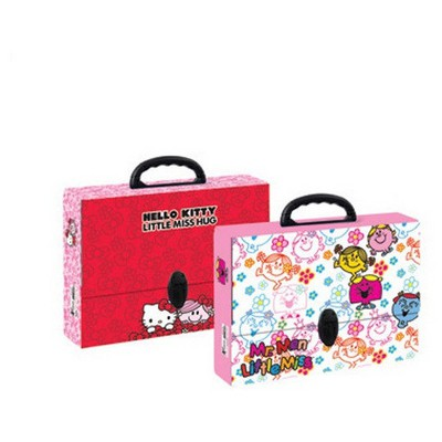 Hello Kitty Keskin Color Mr.men Little M.saplı Çanta Dosya