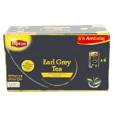 Lipton Earl Grey Siyah Çay Bergamot Aromalı 1000 G 6 Adet Dökme Çay