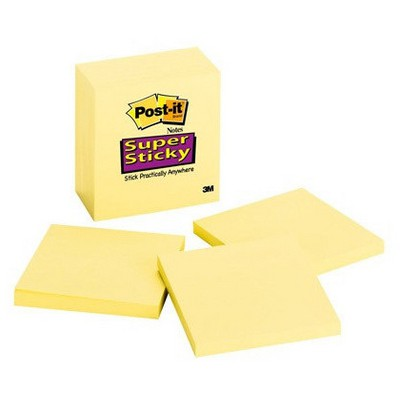 Post-It 654-5ssy Not Kağıdı 76x76 Mm Super Sticky 450 Yaprak Küp Not Kağıtları