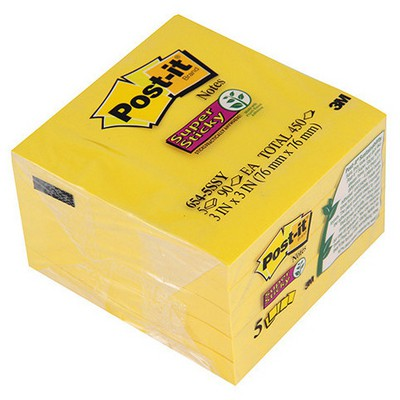 Post-It 3m  76 X 76 Mm Super Sticky 450 Yaprak (654-5ssy) Not Kağıdı