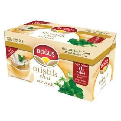 Doğuş Mistik Bardak Poşet  Stevya Aromalı 20 Adet Bitki Çayı