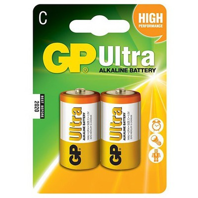 GP 14AU LR14 Ultra Alkalin Orta Boy C 0 2'li Paket Pil / Şarj Cihazı