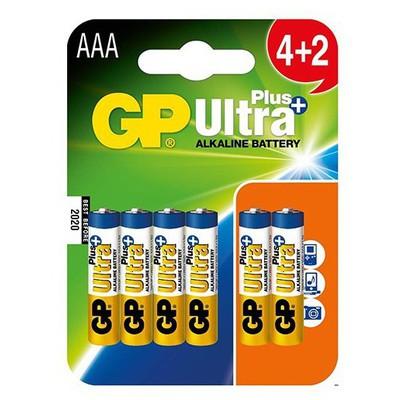 GP AAA Ultra Alkalin Plus+ Pil 4+2 Paket Pil / Şarj Cihazı
